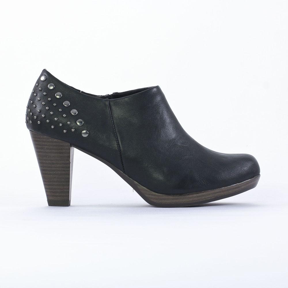 marco tozzi 24409 black | low boots noir automne hiver chez trois