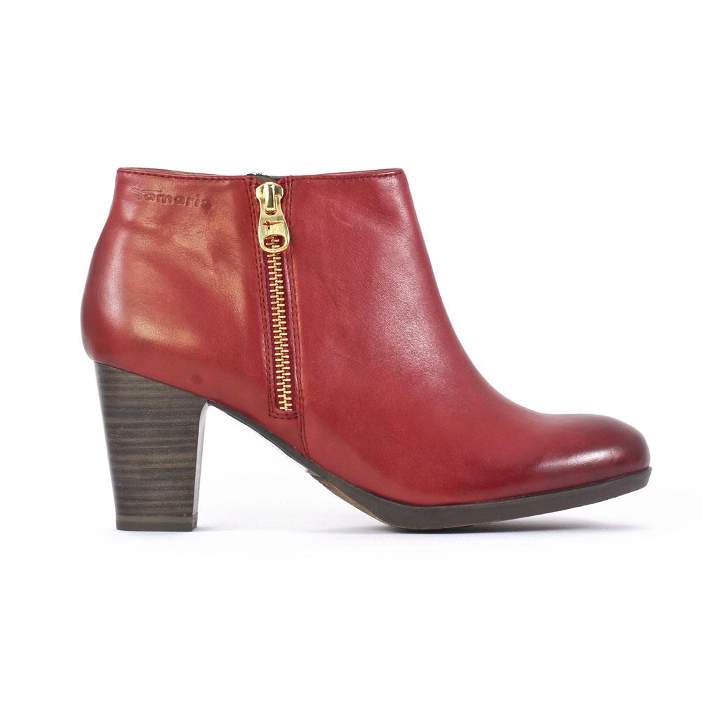 tamaris 25326 sangria | low boots rouge automne hiver chez trois par 3