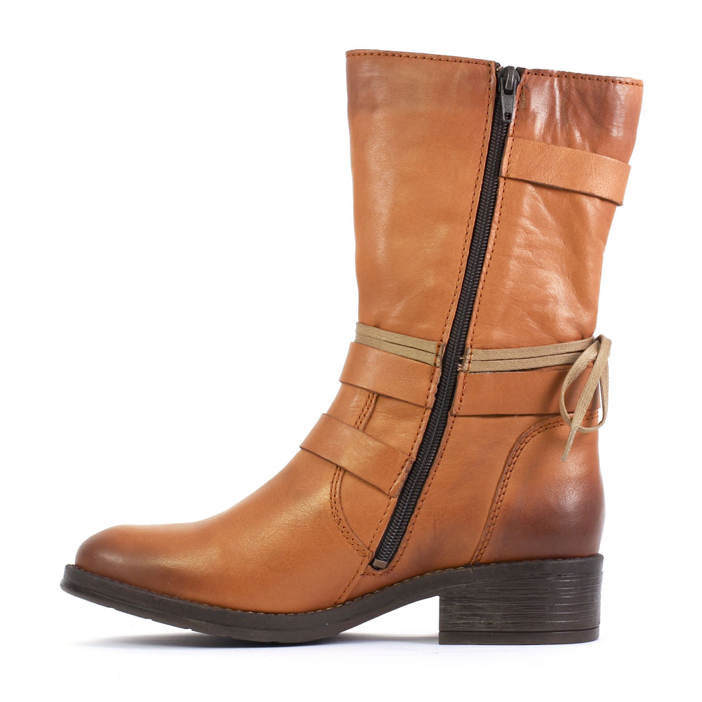 scarlatine 2059 cognac   mi-bottes marron claire automne hiver