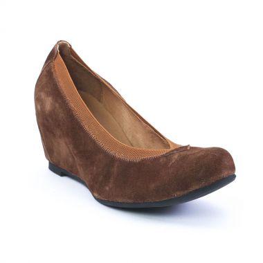 Ballerines Mamzelle Suan Velours Choco griffée Scarlatine, vue principale de la chaussure femme