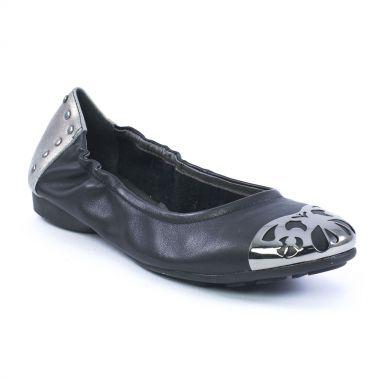 Ballerines Mamzelle Nordic Noir Etain griffée Scarlatine, vue principale de la chaussure femme