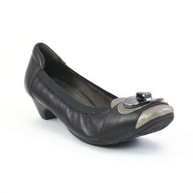 Ballerines Mamzelle Tosha Etain Noir griffée Scarlatine, vue principale de la chaussure femme