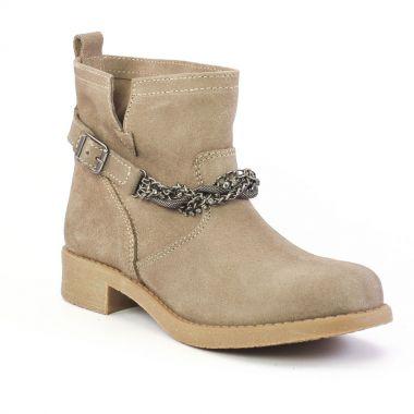 Bottines Et Boots Scarlatine om5608 Taupe, vue principale de la chaussure femme