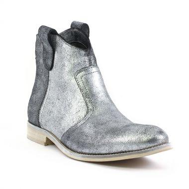 amoroso 50024 argent boots gris argent automne hiver chez trois par 3. Black Bedroom Furniture Sets. Home Design Ideas