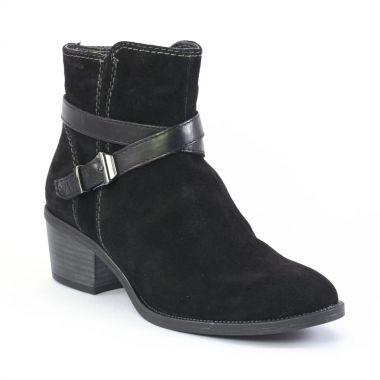 tamaris 25010 black boot talon noir automne hiver chez trois par 3. Black Bedroom Furniture Sets. Home Design Ideas