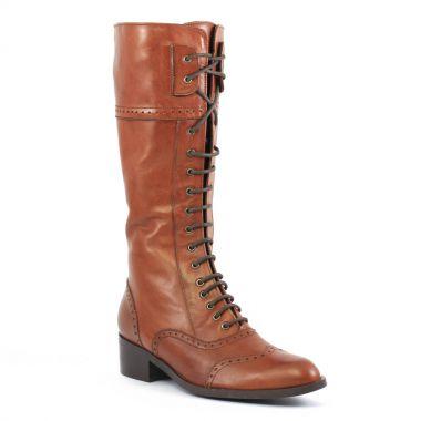 Bottes Amoroso 67003 Gold, vue principale de la chaussure femme. bottes à lacets  marron