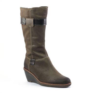 Bottes Fugitive Muka Gris noir, vue principale de la chaussure femme
