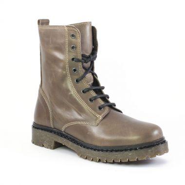 Bottines Et Boots Scarlatine om5744 Taupe, vue principale de la chaussure femme