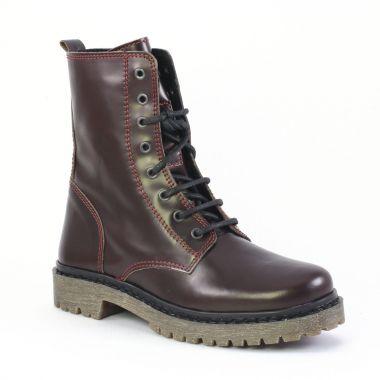 Bottines Et Boots Scarlatine om5744 Bordeaux, vue principale de la chaussure femme