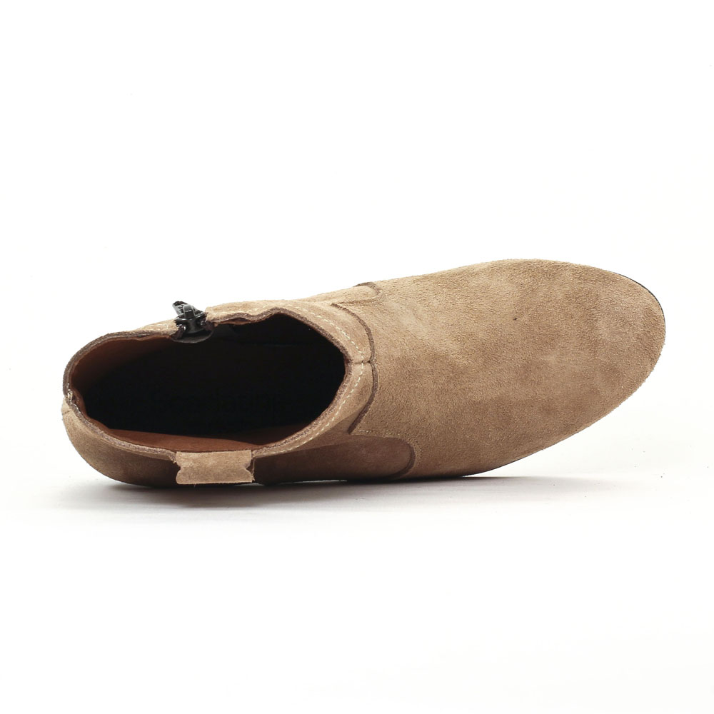 bottes femme nubuck beige c4ce3da7d98c
