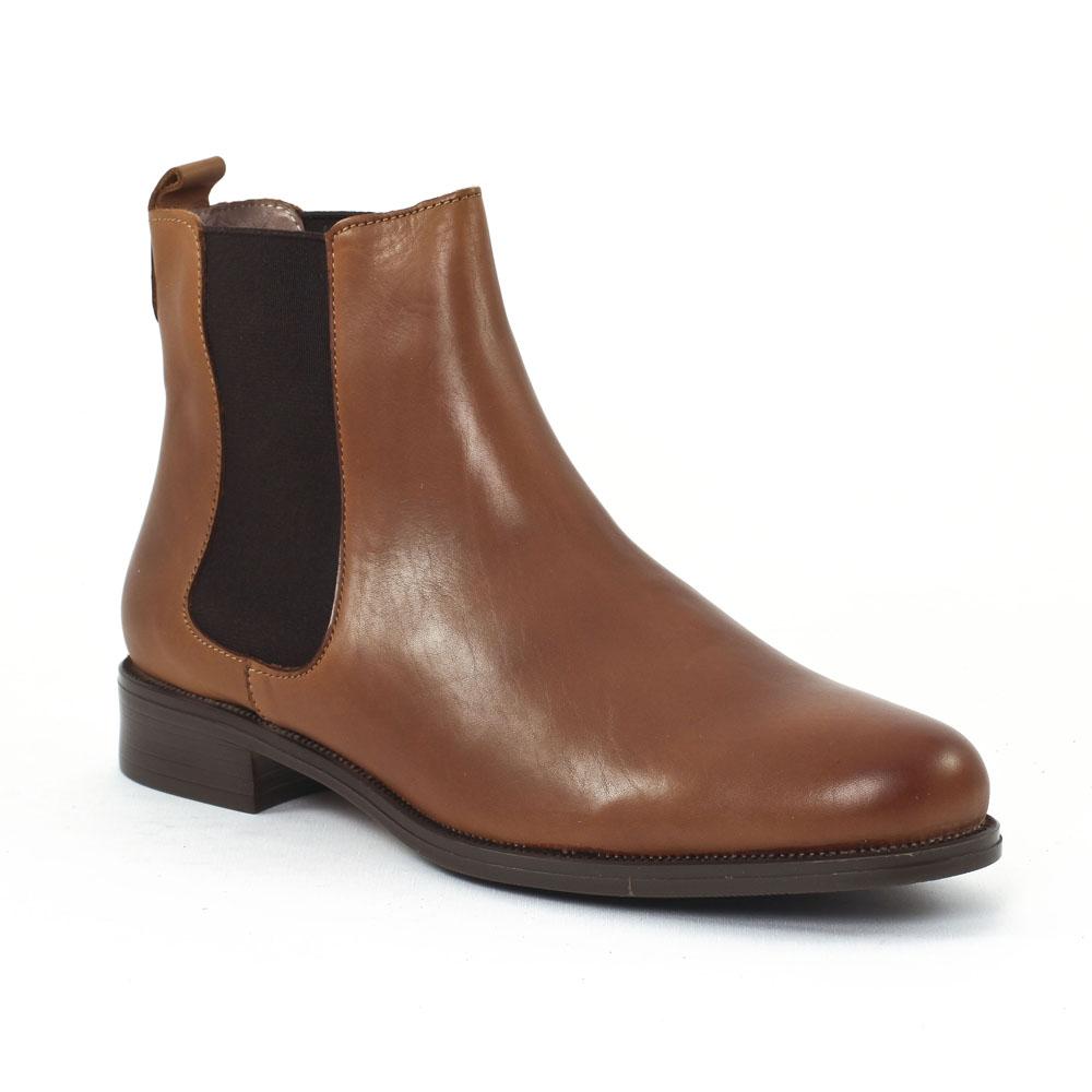 scarlatine co7051 cognac boot lastiqu es marron clair automne hiver chez trois par 3. Black Bedroom Furniture Sets. Home Design Ideas