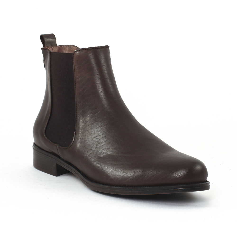 scarlatine co7051 marron | boot élastiquées marron foncé automne