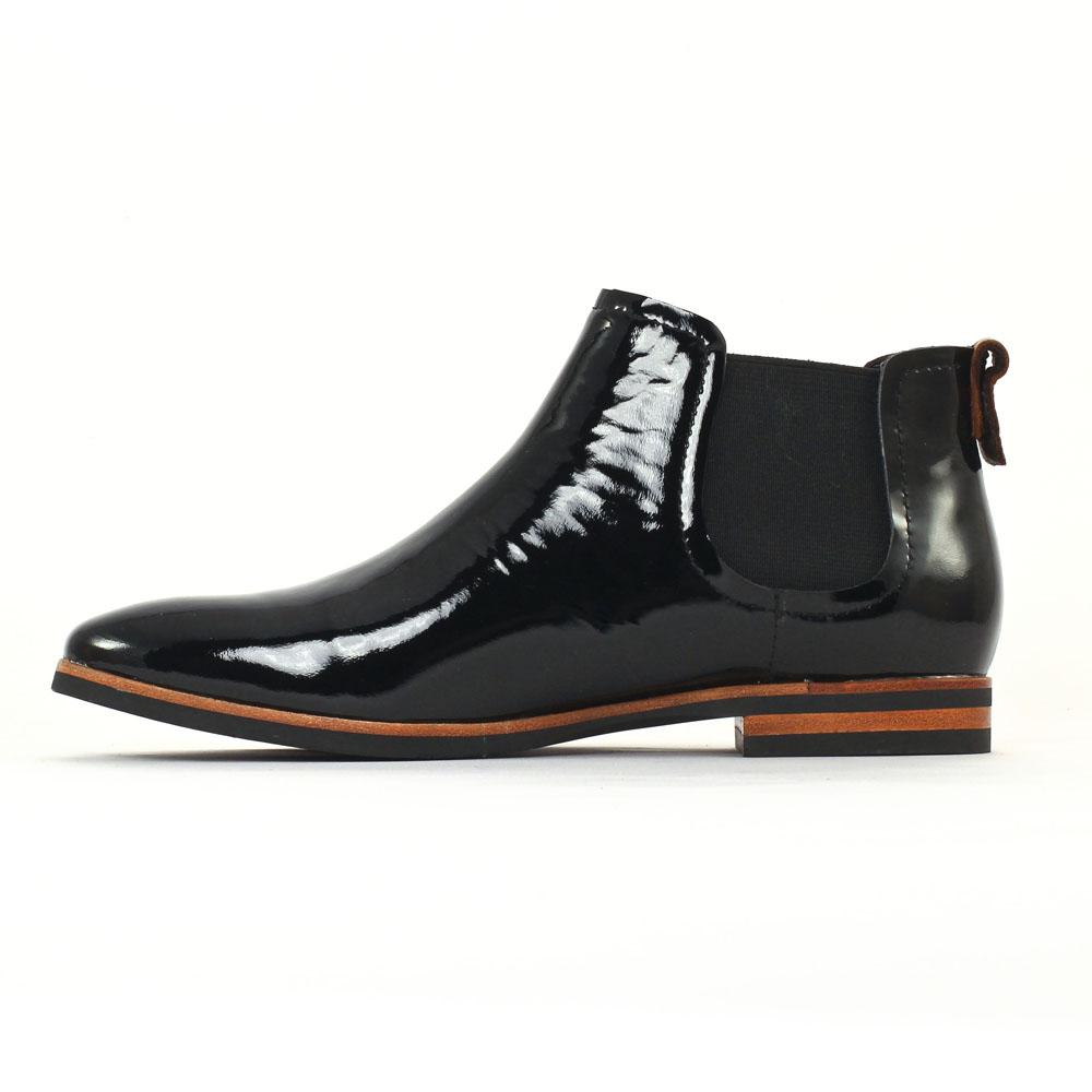 jb martin guimauve vernis noir boot lastiqu es noir. Black Bedroom Furniture Sets. Home Design Ideas