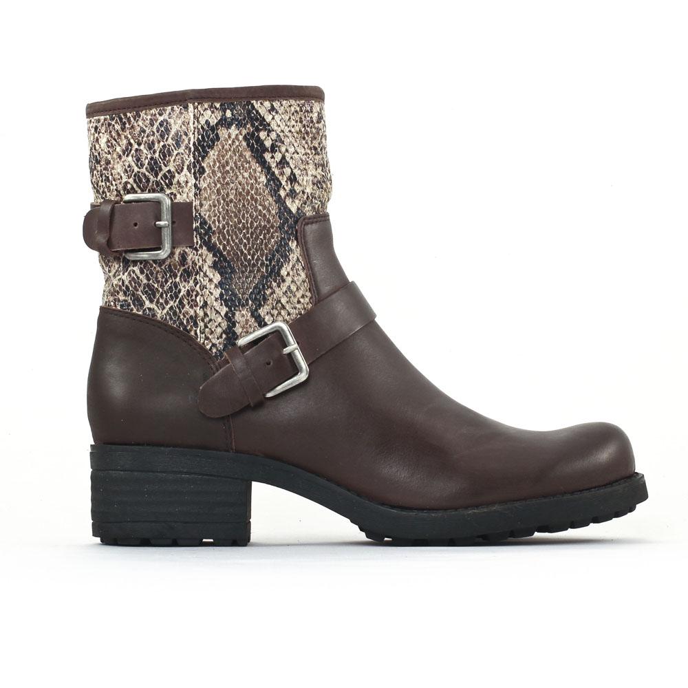 axell panbo chocolat boots marron serpent automne hiver chez trois par 3. Black Bedroom Furniture Sets. Home Design Ideas