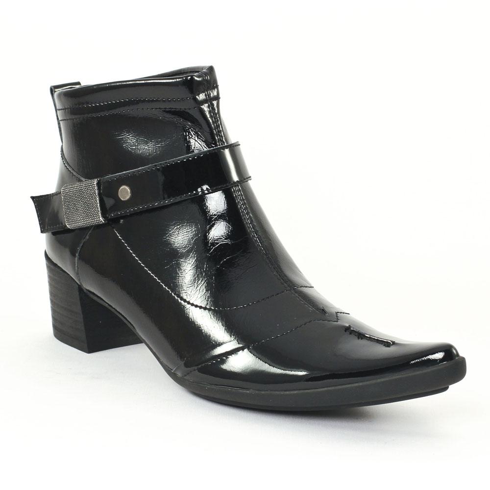 ume matin d 39 t inova vernis noir boots noir vernis. Black Bedroom Furniture Sets. Home Design Ideas