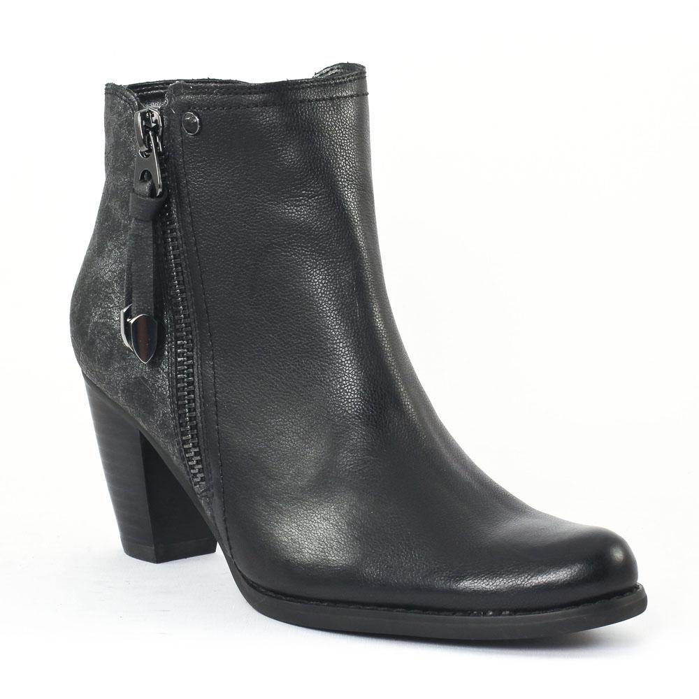 fugitive prime noir boot talon noir gris automne hiver. Black Bedroom Furniture Sets. Home Design Ideas