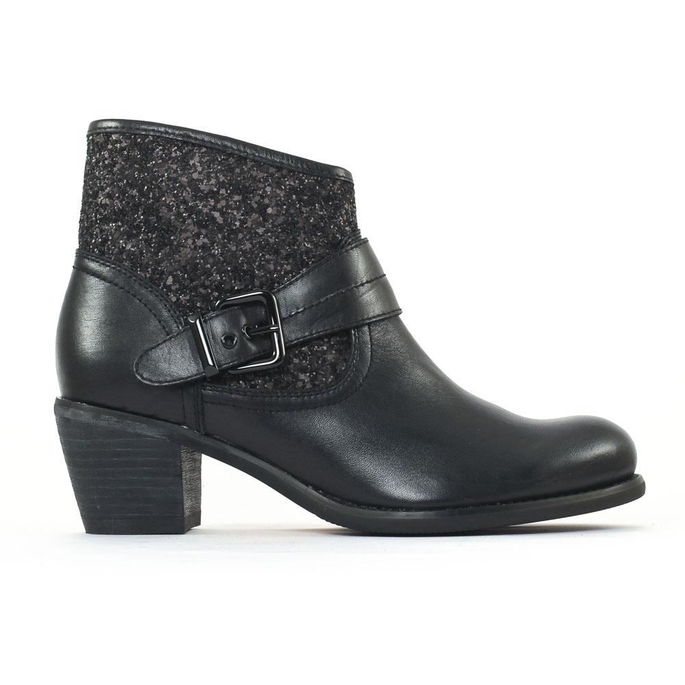 mamzelle ovane noir boot talon noir automne hiver chez. Black Bedroom Furniture Sets. Home Design Ideas