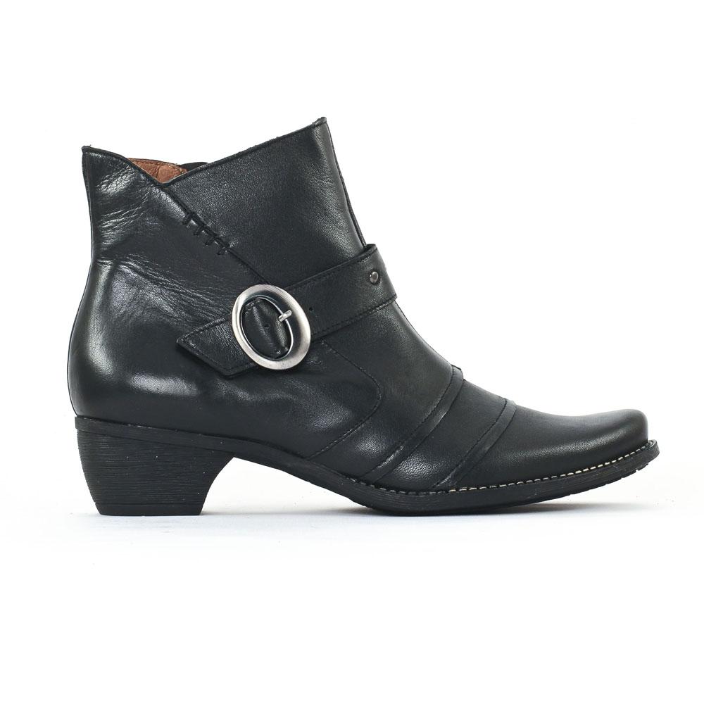 scarlatine 3436 noir boot talon noir automne hiver chez trois par 3. Black Bedroom Furniture Sets. Home Design Ideas