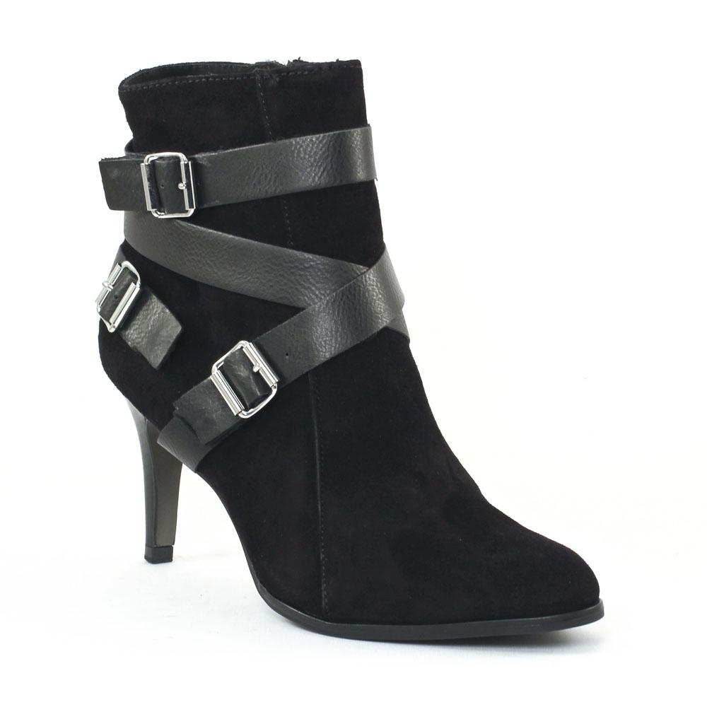 tamaris 25092 black boot talon noir automne hiver chez trois par 3. Black Bedroom Furniture Sets. Home Design Ideas