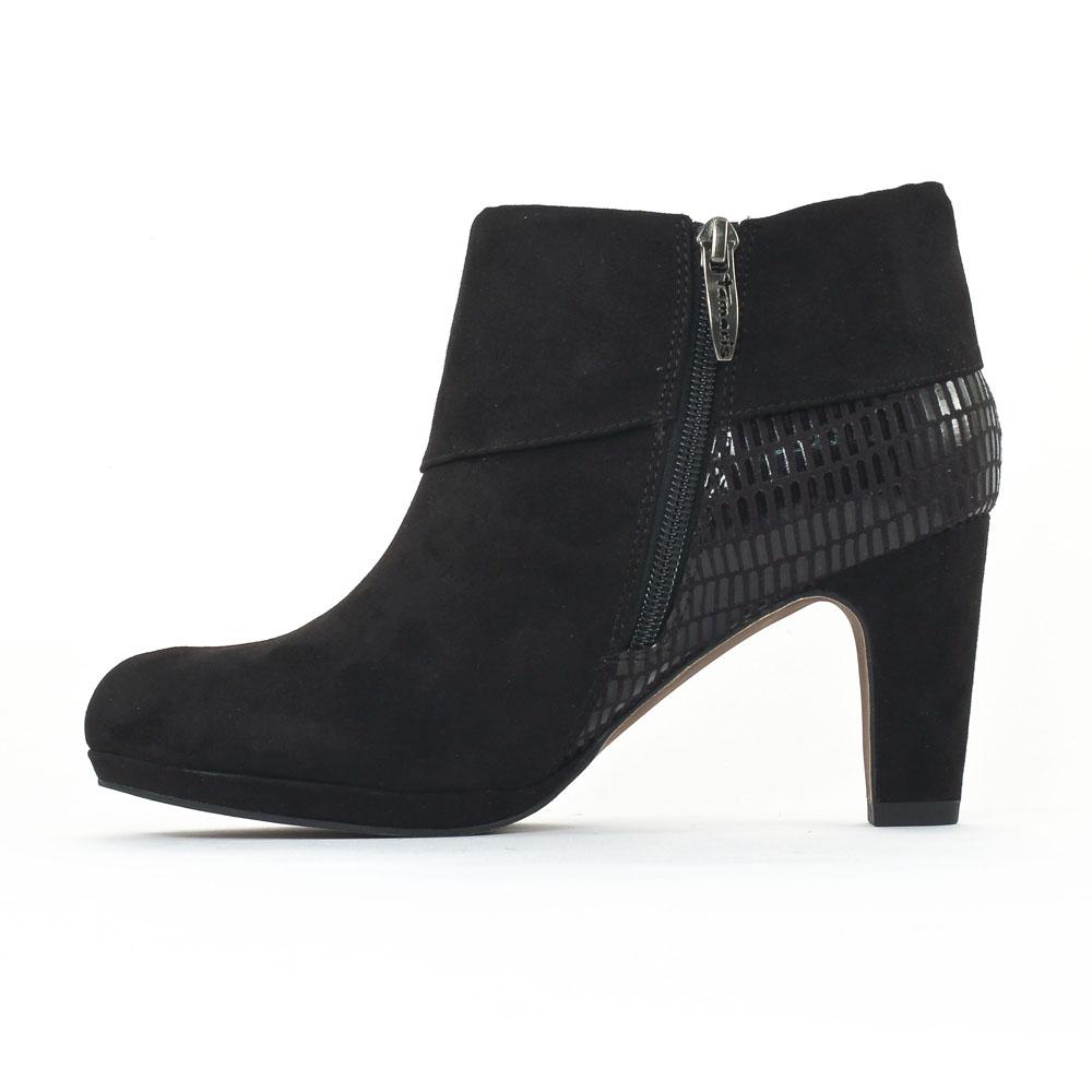 tamaris 25381 black boot talon noir automne hiver chez trois par 3. Black Bedroom Furniture Sets. Home Design Ideas