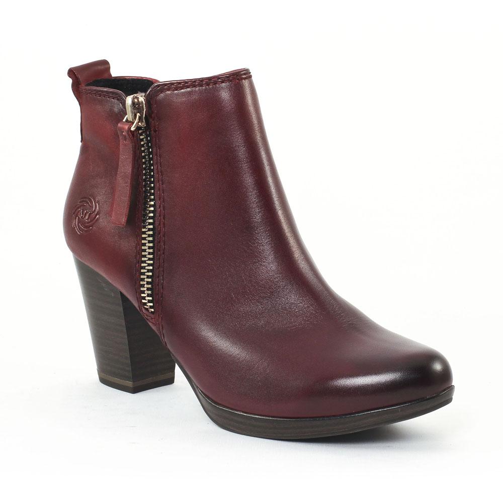 marco tozzi 25087 vino boot talon rouge bordeaux automne hiver chez trois par 3. Black Bedroom Furniture Sets. Home Design Ideas