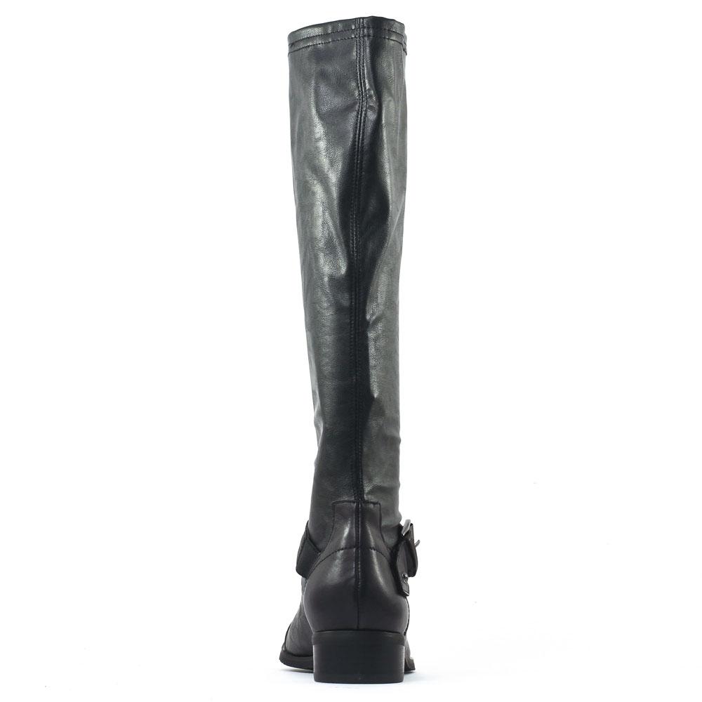 fugitive riaz noir botte stretch noir automne hiver chez trois par 3. Black Bedroom Furniture Sets. Home Design Ideas