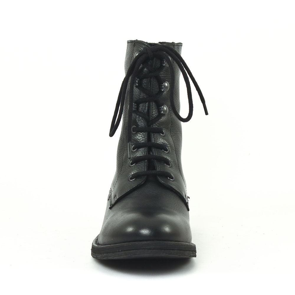 Boots à lacet cuir noir Noir fdwEc6h3