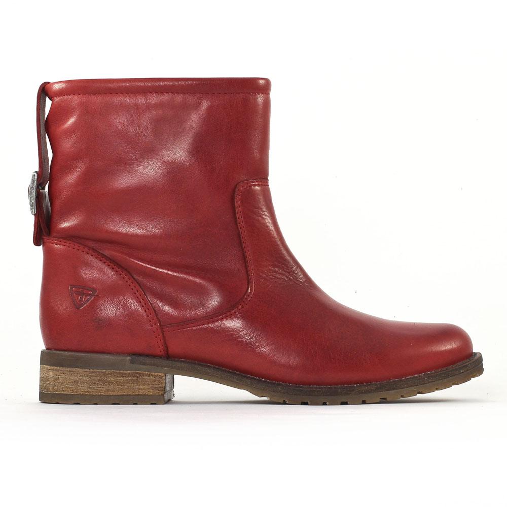 bottines rouges femme - chaussure en image