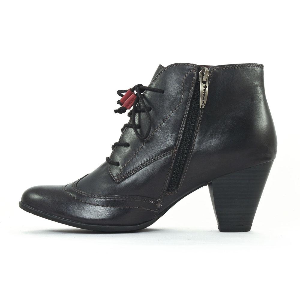 bottines à lacets noir mode femme automne hiver vue 3