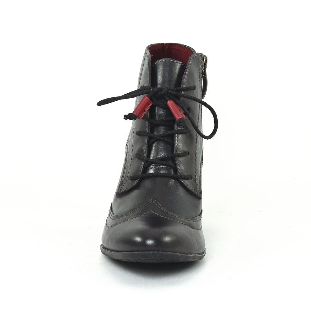 tamaris 25106 black | bottine à lacets noir automne hiver chez