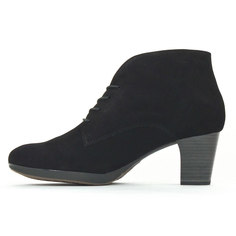 Tamaris 25109 Black | bottine à lacets noir automne hiver