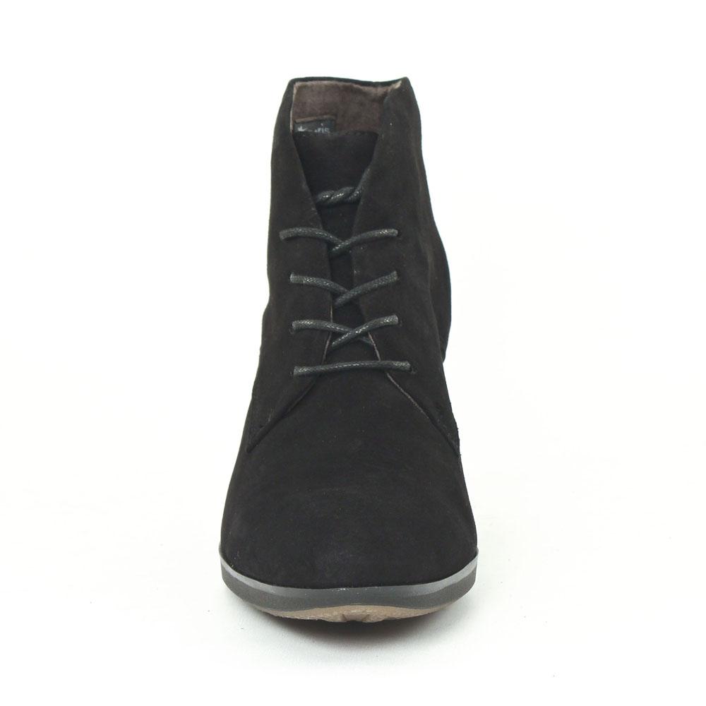 tamaris 25109 black | bottine à lacets noir automne hiver chez