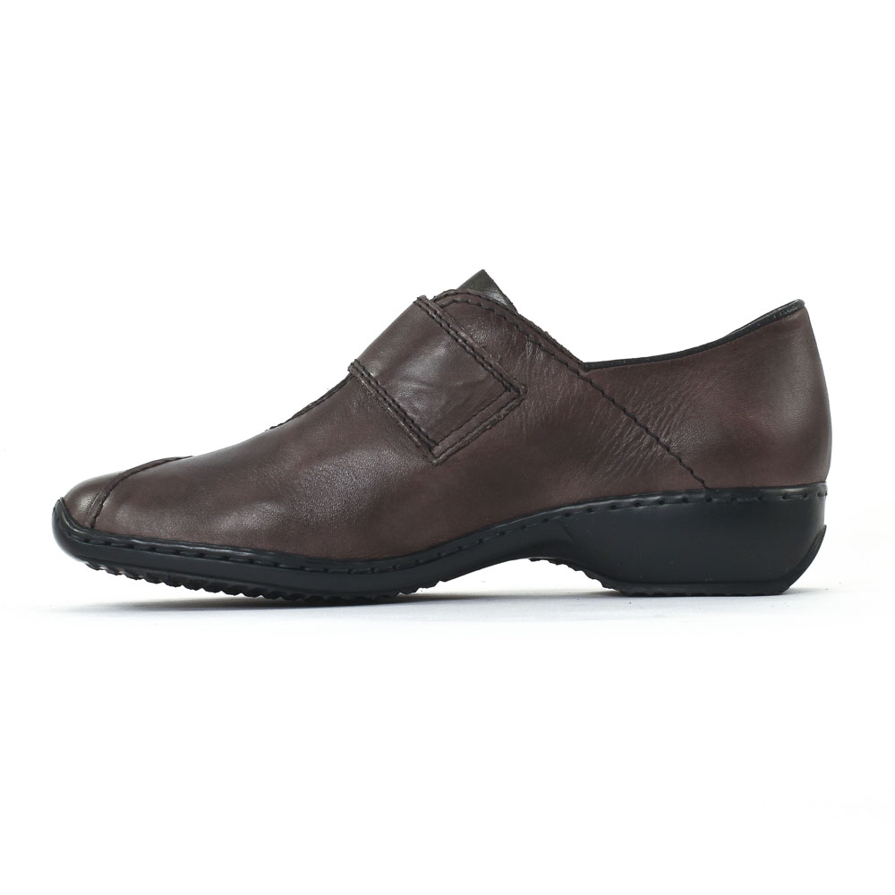 Rieker L3862 Graphite   chaussure confort marron taupe