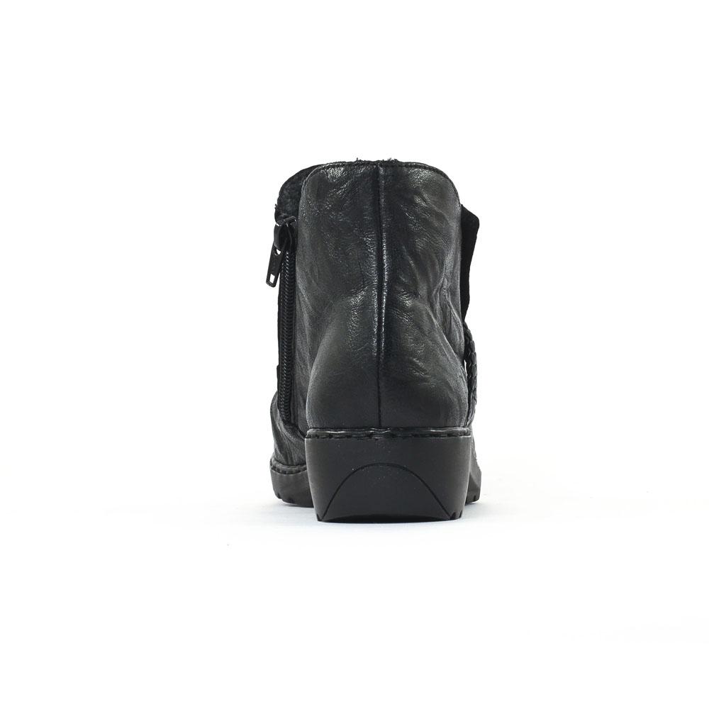 Rieker L6053 Schwarz | low boot confort noir automne hiver