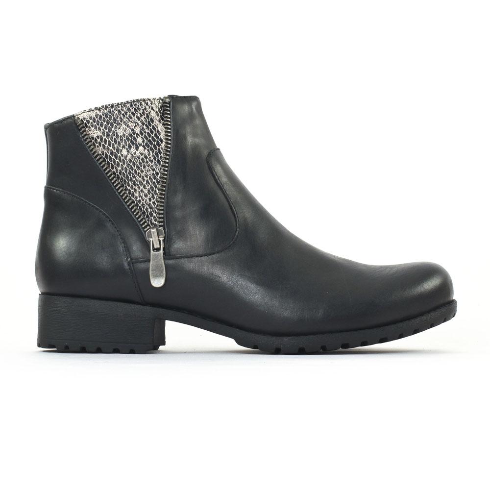 axell palan noir low boots noir gris serpent automne hiver chez trois par 3. Black Bedroom Furniture Sets. Home Design Ideas