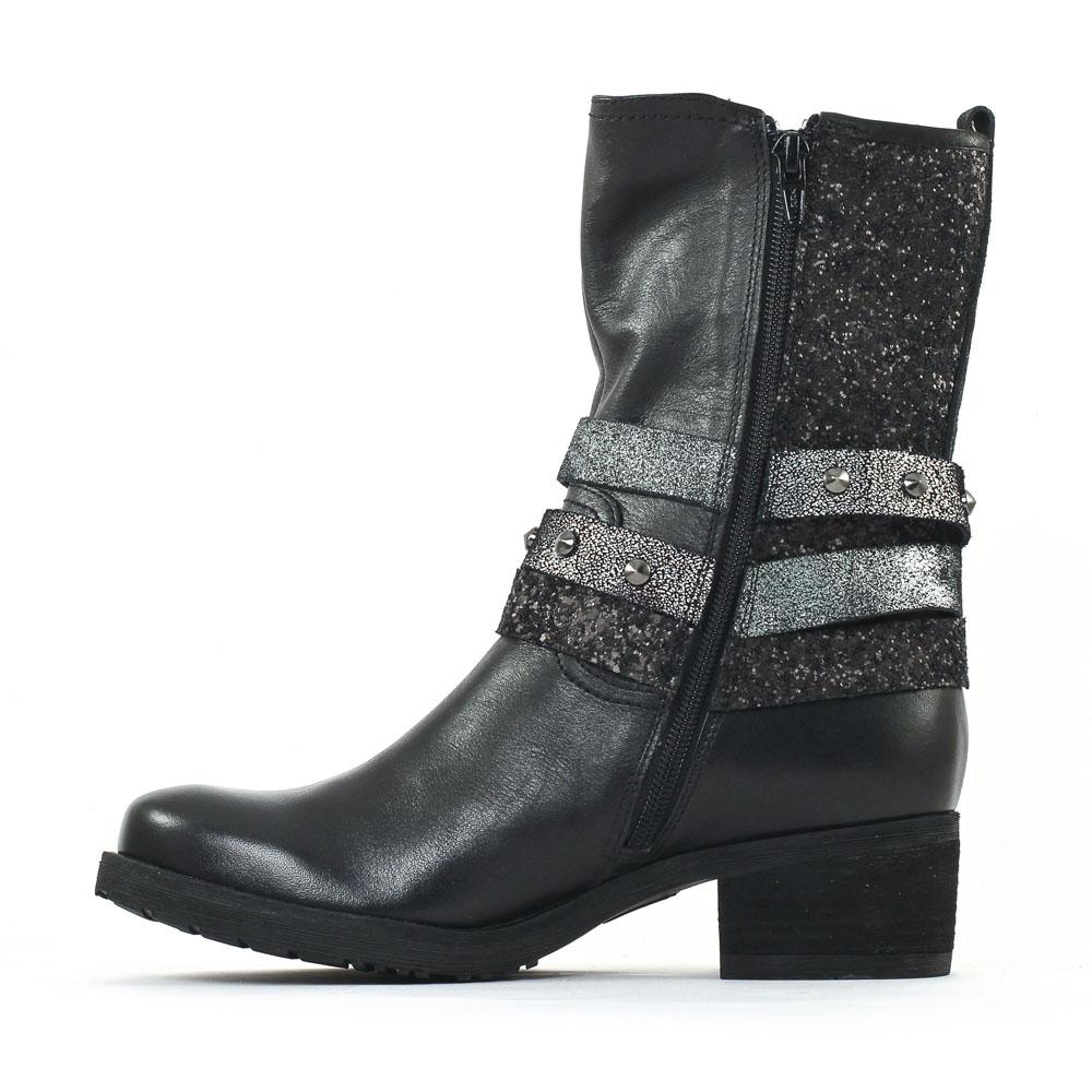 mamzelle distol noir mi bottes noir automne hiver chez trois par 3. Black Bedroom Furniture Sets. Home Design Ideas