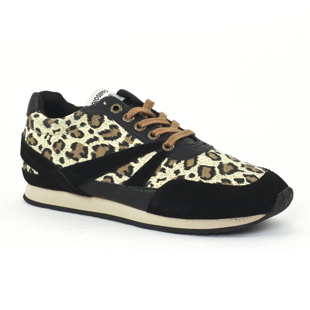 baskets femme leopard. Black Bedroom Furniture Sets. Home Design Ideas