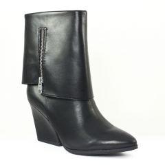bottines-compensees noir: même style de chaussures en ligne pour femmes que les Scarlatine