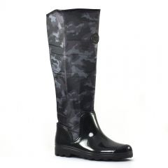 bottes-de-pluie noir: même style de chaussures en ligne pour femmes que les Scarlatine
