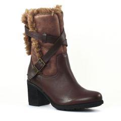 bottillons marron: même style de chaussures en ligne pour femmes que les Scarlatine