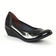 ballerines-talons-compenses noir vernis: même style de chaussures en ligne pour femmes que les Mamzelle