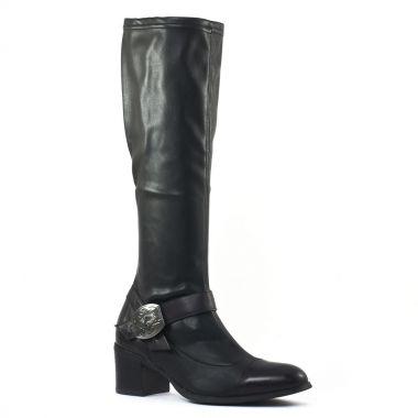 Bottes Fugitive Gerda noir, vue principale de la chaussure femme