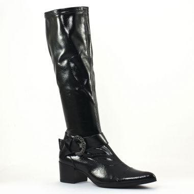 Bottes Fugitive Haker Vernis Noir, vue principale de la chaussure femme