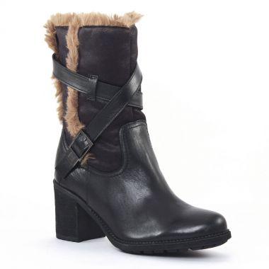 Bottines Et Boots Fugitive Lapaz Noir, vue principale de la chaussure femme