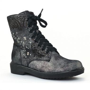 Bottines Et Boots Mamzelle Unes Etain, vue principale de la chaussure femme