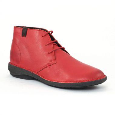 Chaussures Confort Scarlatine co77317 Rouge gris, vue principale de la chaussure femme