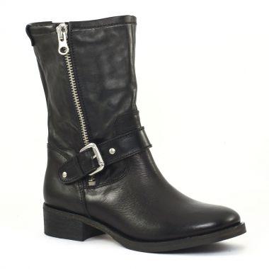 scarlatine co77235c noir mi bottes noir automne hiver chez trois par 3. Black Bedroom Furniture Sets. Home Design Ideas
