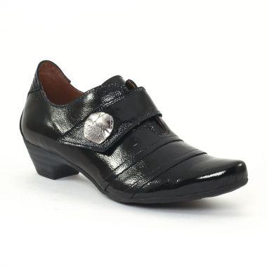 Mocassins Scarlatine 2124 Vernis noir, vue principale de la chaussure femme