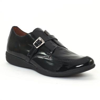 Mocassins Scarlatine 7729 Vernis noir, vue principale de la chaussure femme