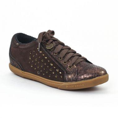 Tennis Et Baskets Mode Mamzelle Esto Python Bronze, vue principale de la chaussure femme